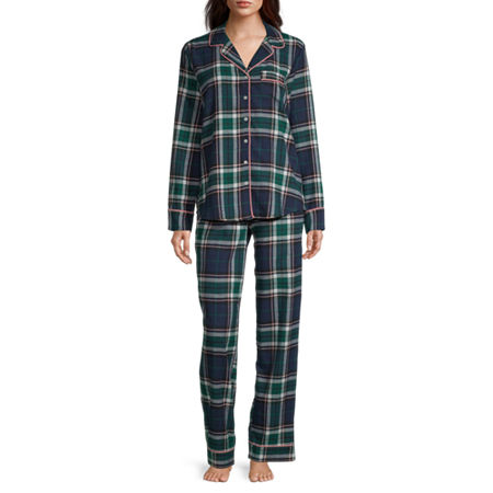 Liz Claiborne Womens Long Sleeve Pant Pajama Set 2-pc.
