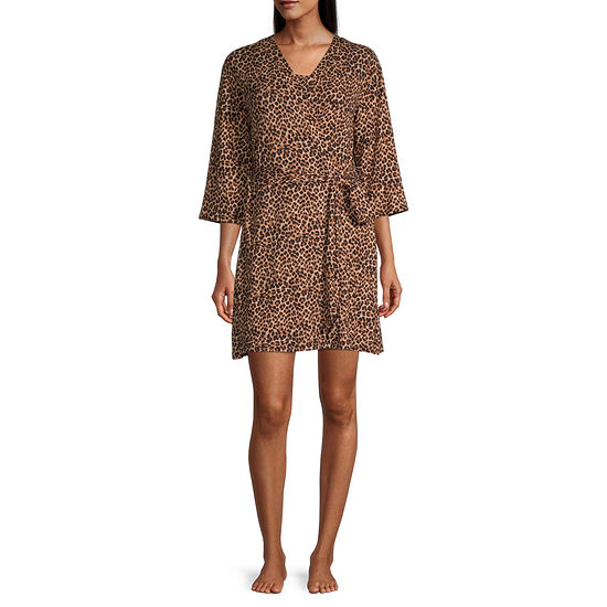 Rene Rofe Womens Pajama + Robe Sets 3-pc. 3/4 Sleeve