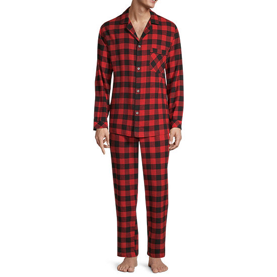 St. John's Bay Men's 2-PC. Flannel Pant Pajama Set