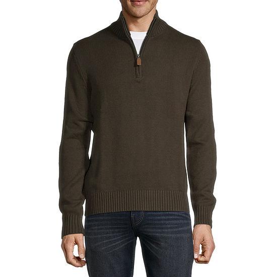 St. John's Bay Long Sleeve Knit Quarter-Zip Sweater