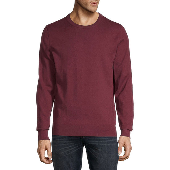 St. John's Bay Crew Neck Long Sleeve Fine Gauge Sweater