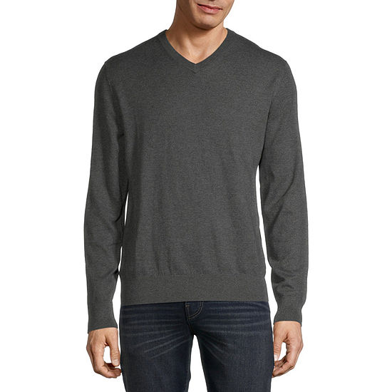 St. John's Bay V Neck Long Sleeve Knit Pullover Sweater