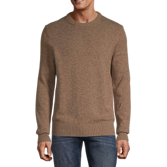 St. John's Bay Crew Neck Long Sleeve Chunky Knit Sweater