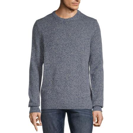 St. John's Bay Crew Neck Long Sleeve Chunky Knit Sweater, Small , Blue - 51302200265