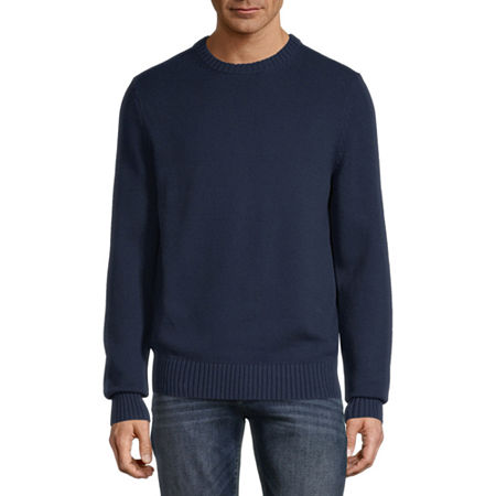 St. John's Bay Crew Neck Long Sleeve Chunky Knit Sweater, Small , Blue - 51302200463