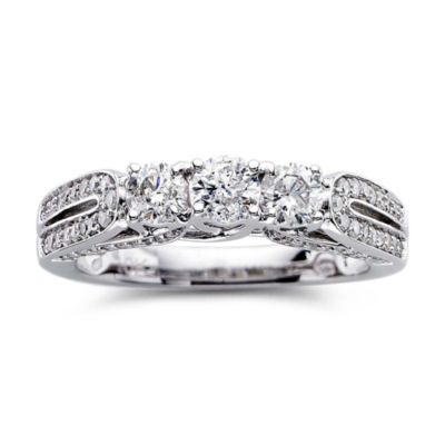 Love Lives Forever™ 1 CT. T.W. Diamond 3-Stone Engagement Ring