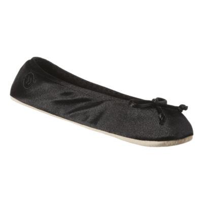 Isotoner® Satin Ballerina Slippers Extended Size