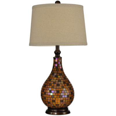 Delightful Dale Tiffany™ Amber Mosaic Table Lamp