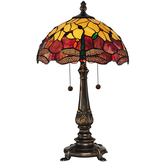 7351ce599bf481 Dale Tiffany Dragonfly Table Lamp