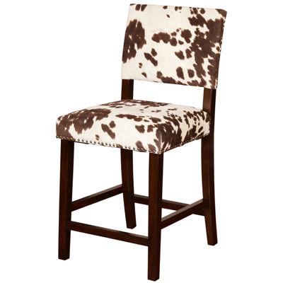 Sante Fe Upholstered Nailhead Barstool with Back