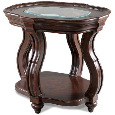 """Nina 24"""" Glass Top End Table"""
