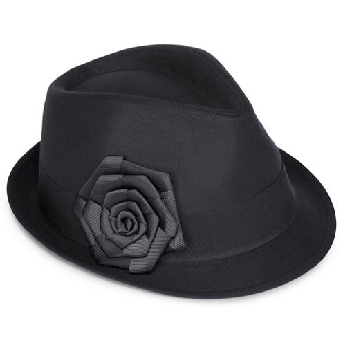 Poplin Fedora with Grosgrain Ribbon