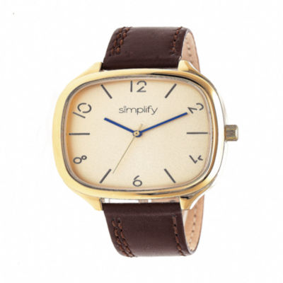 Simplify Unisex Brown Strap Watch-Sim3508