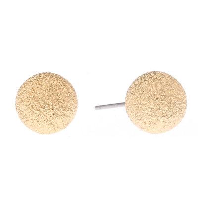 Monet Goldtone Textured Stud Earring