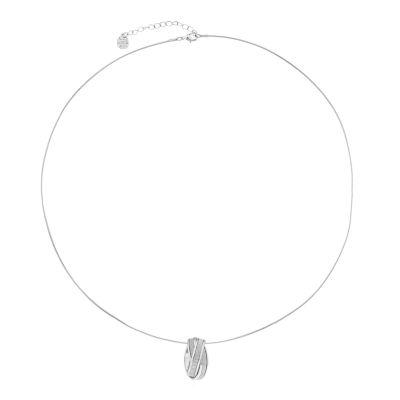 Monet Jewelry Womens Silvertone Glitter Pendant Necklace