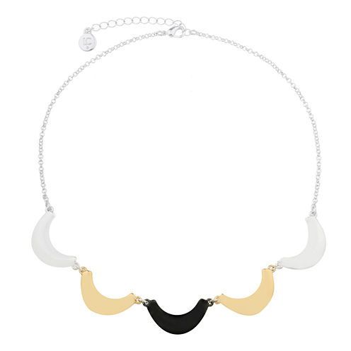 Liz Claiborne Collar Necklace Mixed Metal