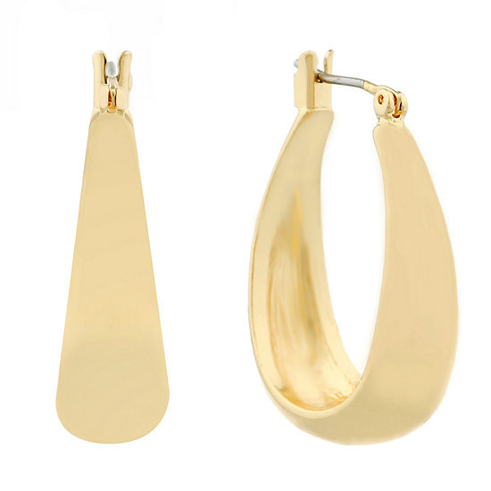Liz Claiborne Hoop Earrings Goldtone