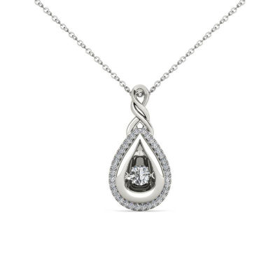 Love in Motion 1/3 CT. T.W. White Diamond Round 10K Gold Pendant