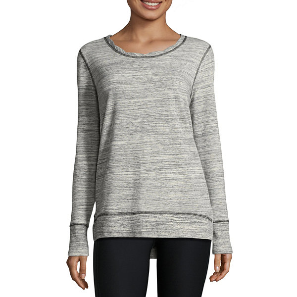 Xersion Long Sleeve Crew Neck Pullover Sweater - Tall