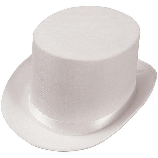 Satin White Adult Top Hat