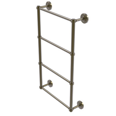 Allied Brass Prestige Regal Collection 4 Tier 30 Inch Ladder Towel Bar with Groovy Detail