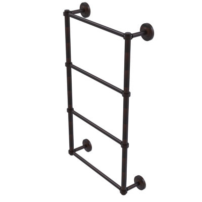 Allied Brass Prestige Regal Collection 4 Tier 24 Inch Ladder Towel Bar with Groovy Detail
