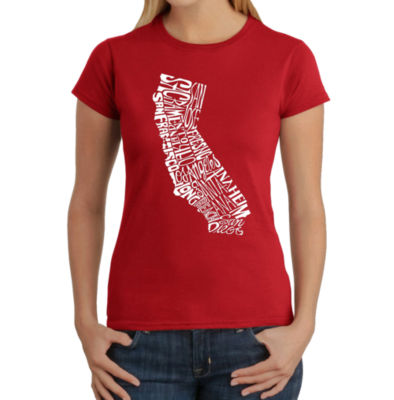 Los Angeles Pop Art Women's T-Shirt - California State