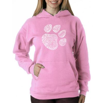 Los Angeles Pop Art Women's Hooded Sweatshirt -CatPaw