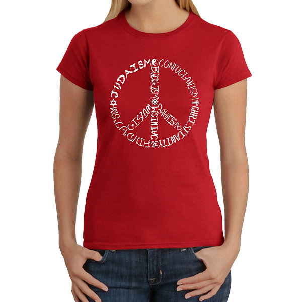 Los Angeles Pop Art Women's T-Shirt - Different Faiths Peace Sign