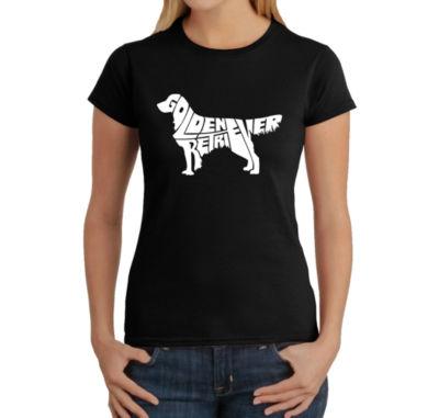 Los Angeles Pop Art Women's T-Shirt - Golden Retreiver