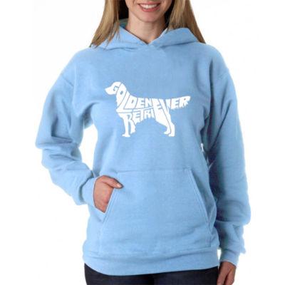 Los Angeles Pop Art Women's Hooded Sweatshirt -Golden Retreiver