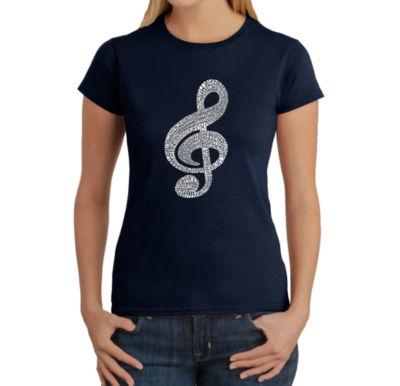 Los Angeles Pop Art Women's T-Shirt - Music Note