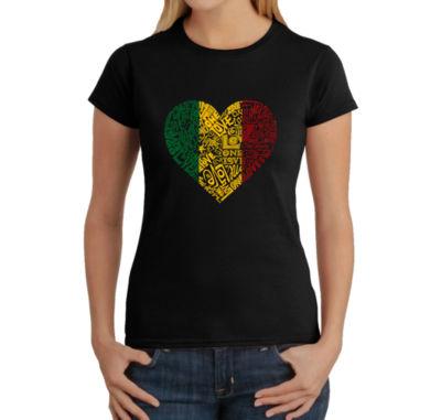 Los Angeles Pop Art Women's T-Shirt - One Love Heart