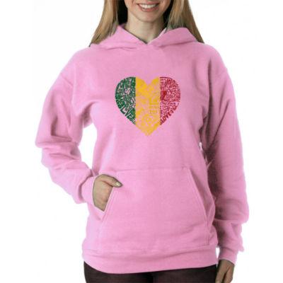 Los Angeles Pop Art Women's Hooded Sweatshirt -OneLove Heart