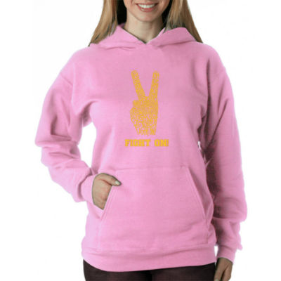 Los Angeles Pop Art Women's Hooded Sweatshirt -USC- Plus