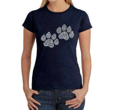 Los Angeles Pop Art Women's T-Shirt - Woof Paw Prints