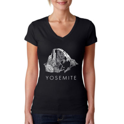 Los Angeles Pop Art Women's V-Neck T-Shirt - Yosemite