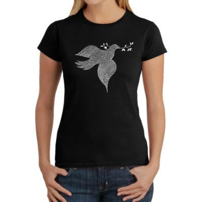 Los Angeles Pop Art Women's T-Shirt - Dove