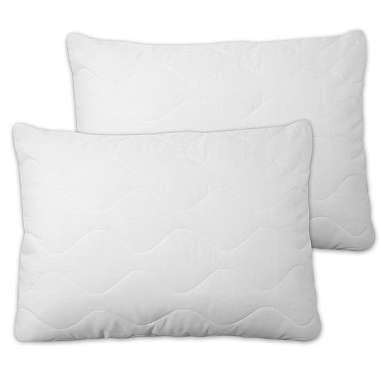 Soft Touch Extra Plush Quilted Pillow Cover With Zipper 2-Pack