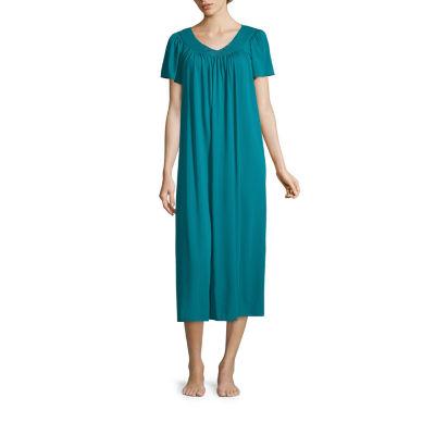 Miss Elaine Short Sleeve Long Gown