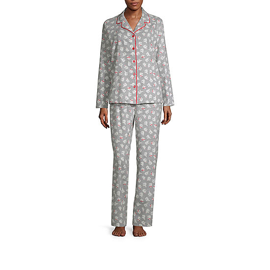 ce773f0453 Sleep Chic Notch Collar Flannel Pajama Set- Talls - JCPenney
