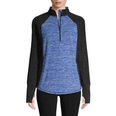 St. John's Bay Active Long Sleeve 1/4 Zip Pullover - Tall
