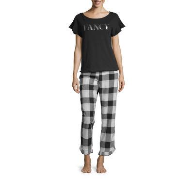 Ambrielle Ruffle Pant Pajama Set- Tall