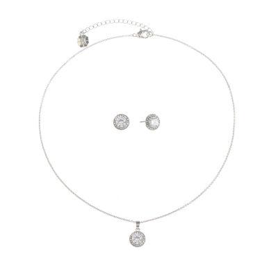 Monet Jewelry Silver Tone Pear 2-pc. Jewelry Set