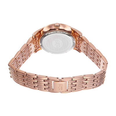 Burgi Womens Rose Goldtone Bracelet Watch-B-102rg