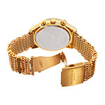 Akribos XXIV Mens Gold Tone Stainless Steel Strap Watch-A-919yg