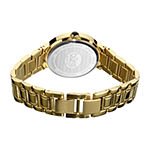 Burgi Set With Swarovski Crystals Womens Gold Tone Stainless Steel Strap Watch-B-077yg