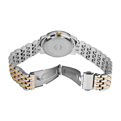 August Steiner Womens Two Tone Strap Watch-As-8027tri