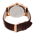 August Steiner Mens Brown Leather Strap Watch-As-8244rg