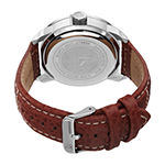 Joshua & Sons Mens Brown Leather Strap Watch-J-106br